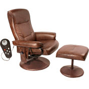 Comfort Products Relaxzen 8 Motor Massage Recliner with Heat Brown