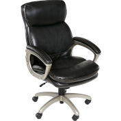 OneSpace Plush Executive Chair with Padded Armrests - Black - Coolidge Series
