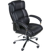 OneSpace 6-Motor Executive Massage Chair with Heat - PU Leather - Black