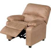 Relaxzen Youth Recliner with Cup Holder and Dual USB - Microfiber - Beige