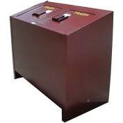 BearSaver BE Series 140 Gal. Animal Resistant Double Waste Receptacle - Green
