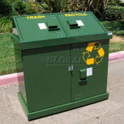 BearSaver H/A® Series 80 Gal. Animal Resistant Waste/Recycle Receptacle -GN