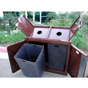 BearSaver H/A® Series 80 Gal. Animal Resistant Double Recycle Receptacle-BN