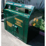 BearSaver Mini Depot 120 Gal. Animal Resistant Recycling Receptacle - Green