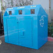BearSaver Mini Depot 120 Gal. Animal Resistant Recycling Receptacle - Sky Blue