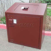 BearSaver Residential 60 Gal. Animal Resistant Double Waste Receptacle - Brown