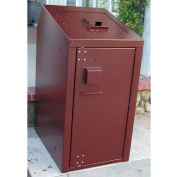 BearSaver Residential 30 Gal. Animal Resistant Waste Receptacle - Brown
