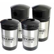 SECURR® Guardian 35 Gal. Indoor Waste Receptacle - Stainless Steel