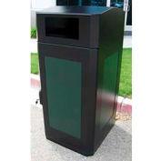 SECURR® CG Series 32 Gal. Poly Cart Garage - Black/Steel
