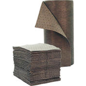 """Chemtex 15"""" x 19"""" Single Weight, Bonded Meltblown Universal Absorbent Pads"""