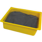 "Chemtex 10-1/2"" x 10-1/2"" x 3"" Universal Absorbent Pans With Chopped Sorbent"