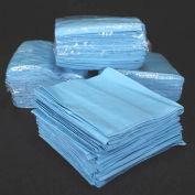 "Chemtex 12"" x 13"" 1/4 Fold Blue Spunlace Wipers, Heavy Duty"
