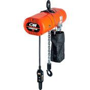CM Lodestar VS Electric Chain Hoist, 1/2 Ton, 10' Lift, 1.3-8 FPM, 115-1-60, 3-Step IV Control