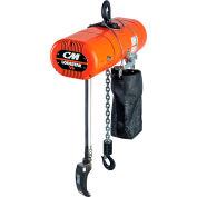 CM Lodestar VS Electric Chain Hoist, 1/4 Ton, 10' Lift, 5.3-32 FPM, 115-1-60, 2-Step Control