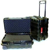 "CH Ellis Chicago Case MSCART18F, Foam-Filled Wheeled Shipping Case, 19-1/2""L x 16""W x 12""H, Black"