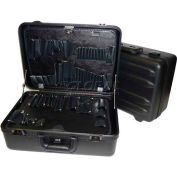 "CH Ellis Chicago Case MST6, 2 Pocket Pallet Tool Case w/Combo Lock, 18-1/2""L x 13""W x 6-1/2""H, Black"