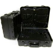 "CH Ellis Chicago Case MDST9, 2 Pocket Pallet Tool Case w/ Lock, 19""L x 16""W x 10""H, Black"
