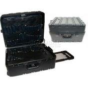 "CH Ellis Chicago Case MDST7CART, 2 Pocket Pallet Tool Case w/Combo Lock, 19""L x 16""W x 10""H, Black"