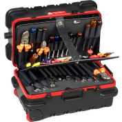 "CH Ellis Chicago Case RMMSLCART, Military-Slimline Tool Case, 22-1/2""L x 13-1/2""W x 11""H, Black/Red"