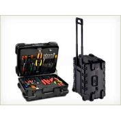 "CH Ellis Chicago Case MMST9CART, Military-Wheeled Tool Case, 19.5""L x 16""W x 13""H, Black"