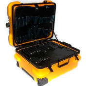 "CH Ellis Chicago Case MMST9YCART, Military-Wheeled Tool Case, 19.5""L x 16""W x 13""H, Yellow"