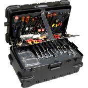 "CH Ellis Chicago Case MMST25CART, Military-Wheeled Tool Case, 26-1/2""L x 16-1/2""W x 13""H, Black"