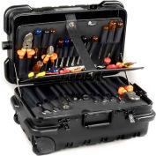 "CH Ellis Chicago Case MMSLCART, Military-Wheeled Tool Case, 22-1/2""L x 13-1/2""W x 11""H, Black"
