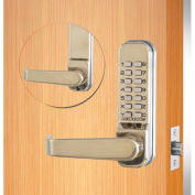 "Codelocks Mechanical Tubular Lockset w/2-3/4"" Latch, CL415-SS, Code Free/Passage, Stainless Steel"