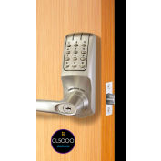 Codelocks Electronic Lockset w/Grade 1 UL Cyl Chassis, CL5210IC-CC-BS, Interch Core, Brushed Steel