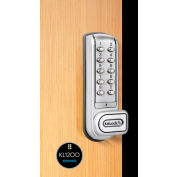 """Codelocks Heavy Use 4-In-1 Electronic Cam Lock,  KL1200-SG, Up to 1"""" Thick Matl, Vert, Silver Gray"""