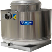 "Canarm 12"" Upblast Exhauster - Direct Drive EC Motor - Spun Aluminum - 1/3HP - 1744 CFM"