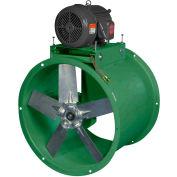 "Canarm 34"" Three Phase Belt Drive Tube Axial Duct Fan BTA34T30750M 7-1/2HP, 25700 CFM"
