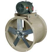 "Canarm 34"" Three Phase Belt Drive Tube Axial Duct Fan HTA34T30150M 1-1/2HP, 15100 CFM"