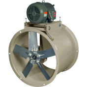 "Canarm 48"" Single Phase Belt Drive Tube Axial Duct Fan HTA48T11000 10HP, 38300 CFM"