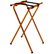 """Tray Stand, 19"""" x 16"""" Top x 31"""" High, 2-1/4"""" Brown Straps, Wide Base (Single Pack)"""