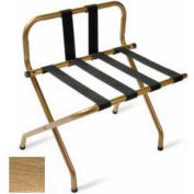 Luxury High Back Antique Inca Gold Luggage Rack w/ Back Strap, Black Straps 6 Pk - Pkg Qty 6