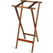 Tray Stand, Extra Tall, Wood, Bottom Strap only, Brown Straps, (5 Per Case)