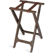 Tray Stand, folding, Brown Straps, Brown Plastic Frame, (Single Pack)
