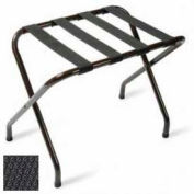 Flat Top Black Luggage Rack with Black Straps, 6 Pack - Pkg Qty 6