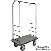 "Easy Mover Bellman Cart Black, Gray Carpet, Gray Bumper, 8 ""Black  Pneumatic"