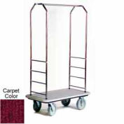 Easy Mover Bellman Cart Stainless Steel, Red Carpet, Gray Bumper
