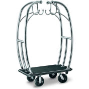 "CSL HD Angel Bellman Cart 3699BK-010-BLK Stainless, Black Carpet, Black Bumper, 8"" Pneumatic"