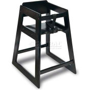 CSL Deluxe Wood High Chair, Black Finish, 2-Pack - Pkg Qty 2