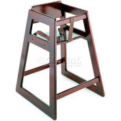 CSL Deluxe Wood High Chair, Mahogany Finish, 1-Pack
