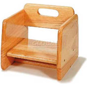 CSL Wood Booster Seat, Light Wood Finish
