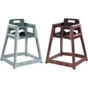 Koala Kare® Plastic High Chair, Brown, Assembled