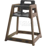 CSL Plastic High Chair with Casters, Brown, Unassembled