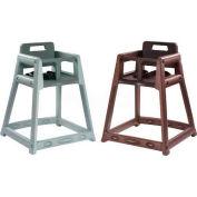 Koala Kare® Plastic High Chair, Gray, Assembled