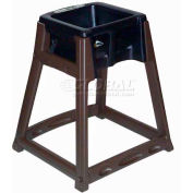 CSL KidSitter™ High Chair, Dark Brown Frame/Black Seat
