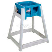 CSL KidSitter™ High Chair, Gray Frame/Blue Seat